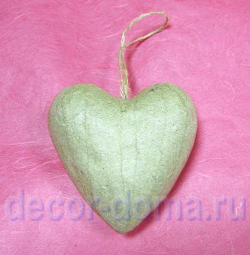 Как сделать из папье-маше сердце