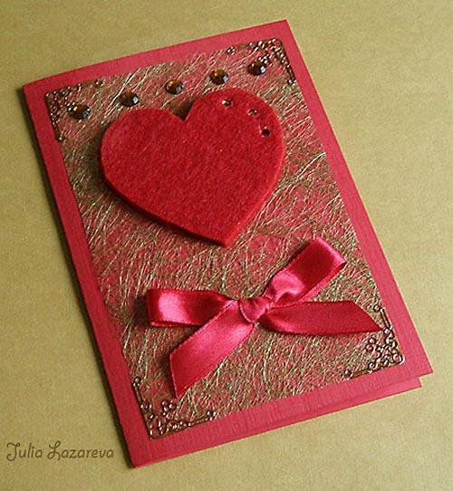 Валентинки из открыток своими руками
