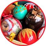 Декор прозрачных шаров новогодний