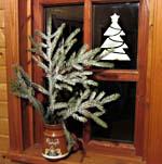 Снег - декор на окне