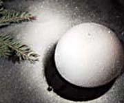Снег - декор на шарике