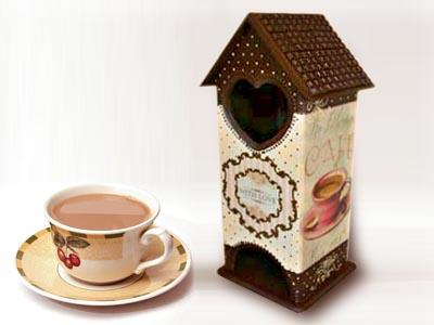 Шоколадный чайный домик, мастер-класс по декору
