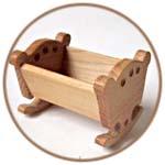 Тедди, кукольная мебель из бука, деревенский стиль