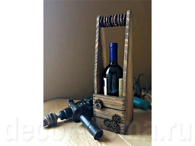 """Винный короб, декор с брашированием и элементами стиля """"стимпанк"""", мастер-класс"""
