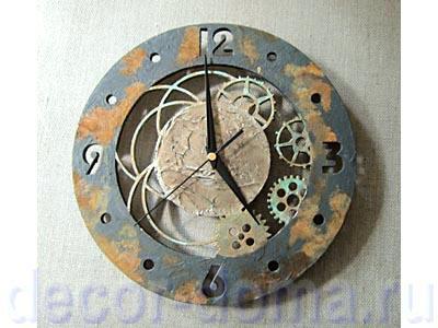 Часы в стиле Стимпанк, мастер-класс по декору