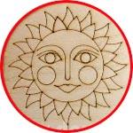 Солнышко-Ярило, фигурка из тонкой фанеры, 10 см