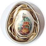 Шкатулка-яйцо из папье-маше, 17 см