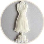 Манекен с платьем, декор пластиковый