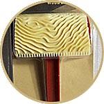 Шпатель-штамп резиновый для имитации фактуры дерева, 10 см, волнистый