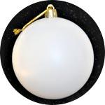 Шары пластиковые белые - заготовки для новогоднего декора