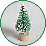 Ёлочка миниатюрная, 5 см, зеленая заснеженная