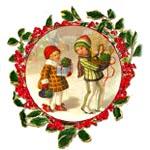 Бумага рисовая для декупажа, Stamperia, 48х33 см, Дети, ангелы, Новый Год