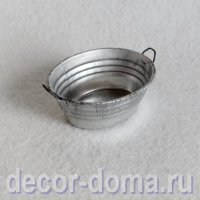 Тазик цинковый мини, 5 см