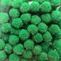 Помпончики микро, цвет зеленый насыщенный
