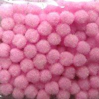 Помпончики микро, цвет розовый