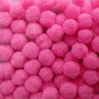 """Помпончики микро, цвет розовый """"Барби"""""""