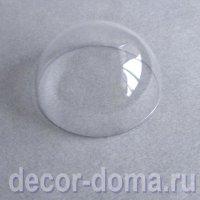 Полусфера, купол пластиковый прозрачный, 9,5 см