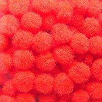 Помпончики микро, цвет красный