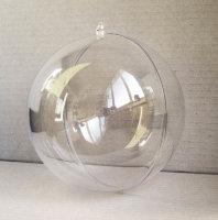 Шар прозрачный пластиковый, 16 см