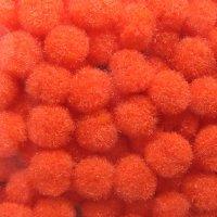 Помпончики микро, цвет оранжевый