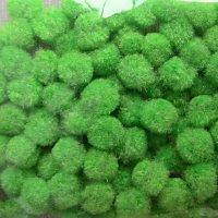 Помпончики микро, цвет зеленое яблоко
