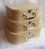 Набор чемоданов из папье-маше, 3 шт.