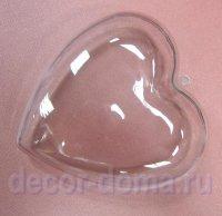 Сердце из прозрачного пластика, 8 см