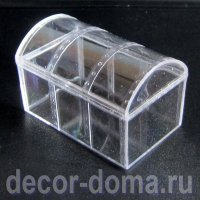 Сундучок прозрачный пластиковый, 8 см
