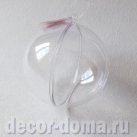 Шар прозрачный пластиковый, 8 см