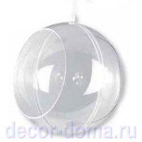 Шар прозрачный пластиковый с окном (флористический), 12 см