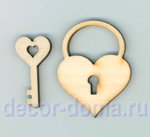 Ключ и замок из картона своими руками