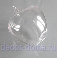 Яблоко, 100 мм, заготовка для декора из прозрачного пластика
