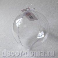 Шар прозрачный пластиковый, 10 см