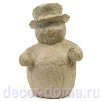 Фигурка из папье-маше DECOPATCH, объемная, мини, снеговик в шляпе