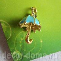 Зонтики золотистые с эмалью, 4 шт., набор подвесок