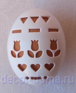 Трафарет на яйцо