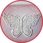 Кружевной декор бабочка