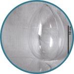 Яйцо прозрачное пластиковое для декора