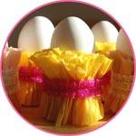Пасхальные яйца в крепированной бумаге