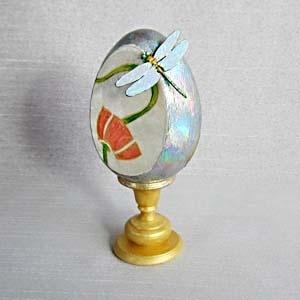 Радужная стрекоза, пасхальное яйцо, мастер-класс