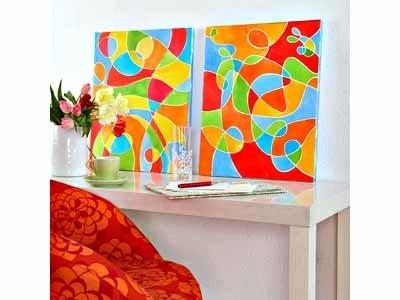 Абстрактная живопись с маскирующим контуром, мастер-класс