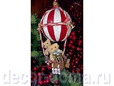 Воздушный шар на ёлку, полёт к Деду Морозу, мастер-класс