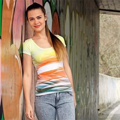 Декор футболки на ведре, мастер-класс по краскам fashion spray
