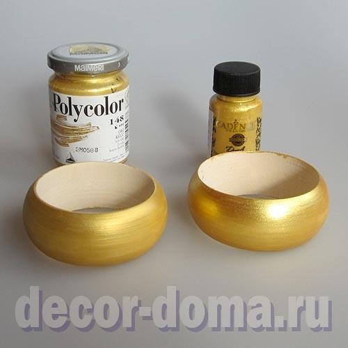 Богатое золото: сравнение двух акриловых красок