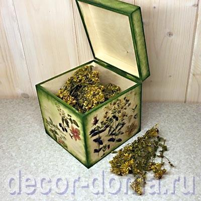 Коробка для трав - опыты с трансферной жидкостью Viva Decor, мастер-класс