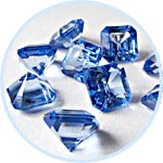 Бриллиант, имитация, 20 мм, 10 шт., цвет голубой