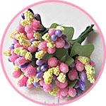 Букетик декоративный, бутончики-тычинки, Весеннее разноцветье