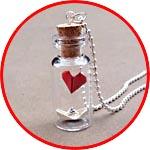 Валентинка - сердечко в бутылочке