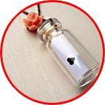 Валентинка - записка в мини-бутылочке