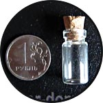 Бутылочки мини, 10х22 мм, 1 мл, 48 шт.